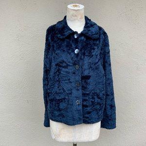 Vintage free people fuzzy jacket